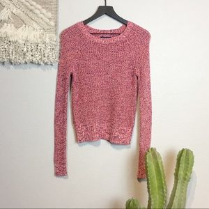 American Eagle Pink Crew Neck Sweater Size S
